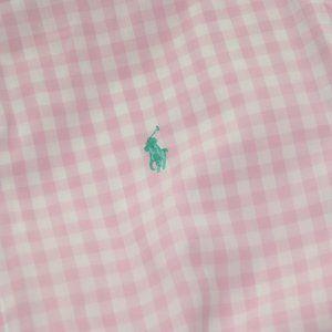 Pink Buttoned Down Shirt Short Sleeved